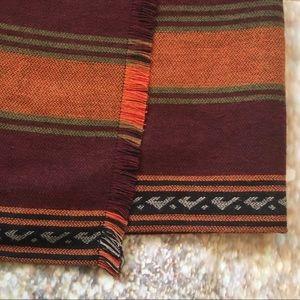 LOFT Skirts - LOFT Stripe Fringe Blanket Wrap Skirt